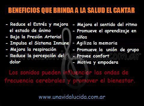 beneficios de cantar