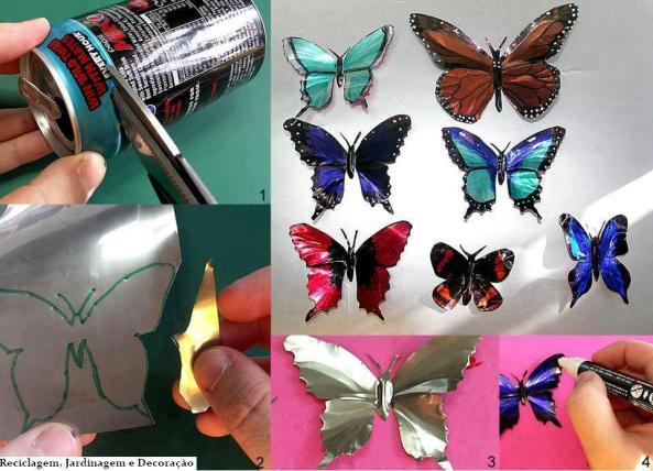 mariposas lata